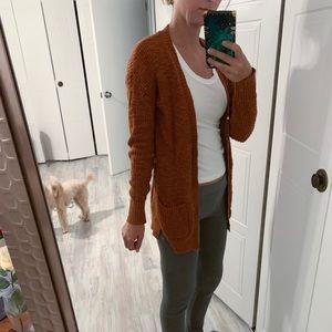 Fall brick color cardigan